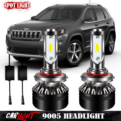 LED Head Lamps Light Bulbs for 2017 Jeep Cherokee Dodge Charger High Beam Lights