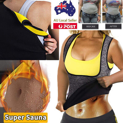 Waist Trainer Vest Sauna Sweat Body Shaper Tank Top Slimming Trimmer Shirt Women