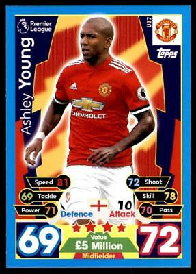 Match Attax 17/18 EXTRA Ashley Young Manchester United Squad Updates No. U37
