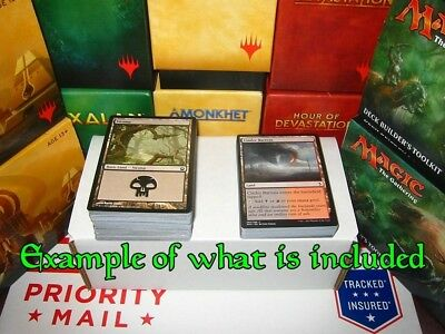 1100+ Magic The Gathering Card Collection ~RARES Basic & Dual Mana Land +Storage