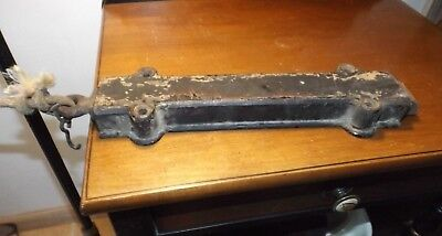 Antique House Hardware HEAVY Cast Iron Large Bulkhead Barn Door Spring Latch