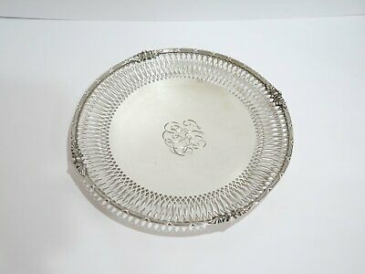 10.5 in - Sterling Silver Redlich & Co Antique Openwork Ornate Rim Serving Plate