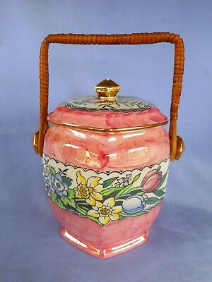 Maling Biscuit Barrell ~ Decorated In The 'springtime' Pattern ~