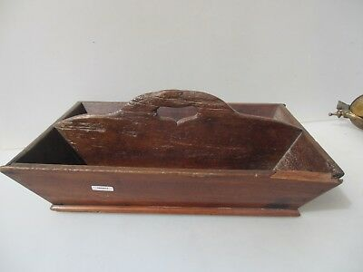 Antique Wooden Tray Storage Pots Holder Pine Old Tool Utensil Victorian Vintage