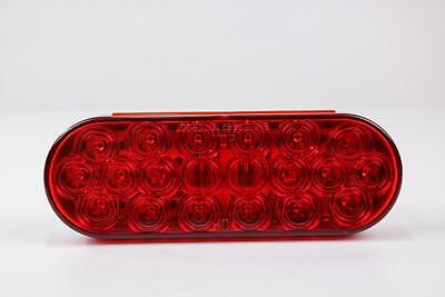 Red Oval LED Stop/Turn/Tail Light, 20 Diodes, Grommet Mount