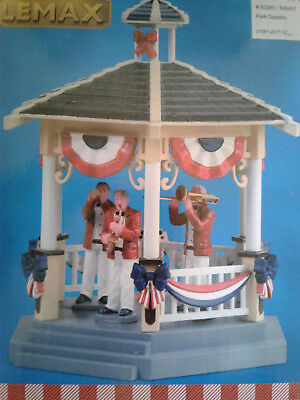 LEMAX VILLAGE SUMMER AMERICANA Gazebo Park Brand NEW Band Village