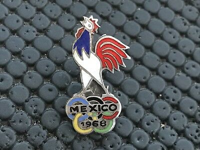 Rare Pin's Badge Noc French Mexico 1968 Coq France Olympic Olympia Jo