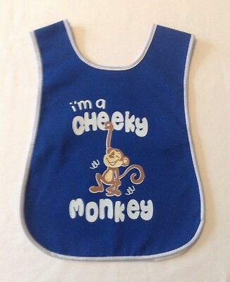 Boys Ages 1-5 Years 'i'm A Cheeky Monkey' Print Overall Tabard Washable Apron