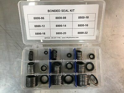 BONDED OIL SEAL DOWTY WASHER  METRIC KIT 6 mm - 22 MM  90Pcs.