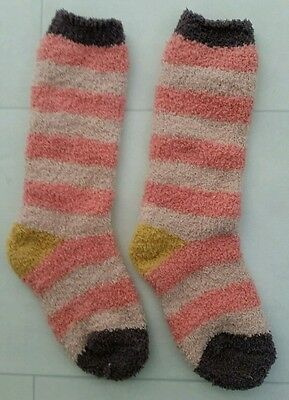 Joules Supersoft Fluffy  Girls  Socks - coral