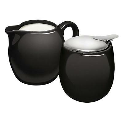 Avanti Camelia Porcelain Milk Jug  Sugar Bowl Coffee Tea Set Black Table Kitchen