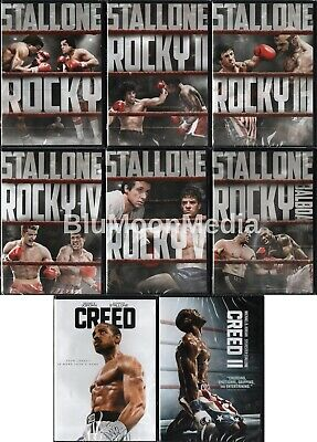 Rocky DVD 1 2 3 4 5 6 Creed 7 Movie Collection Balboa Movie Set Brand NEW