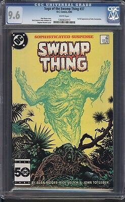 SWAMP THING #37, Key issue! White Pages! First Constantine!