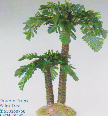 3.5 Inch Scale Fontanini Double Trunk Palm Tree 55036GD
