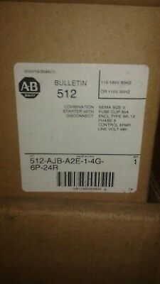 ALLEN BRADLEY 512-AJB-A2E-1-4G-6P-24R COMBINATION STARTER WITH DISCONNECT New in
