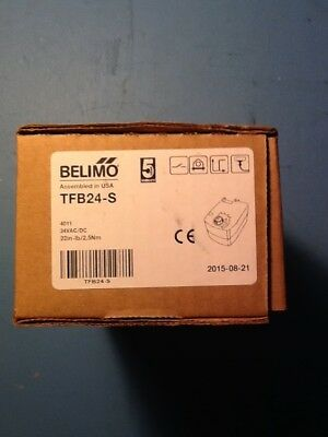 Belimo TFB24S Damper Actuator with Auxillary switch 24Vac 2 Position Act.