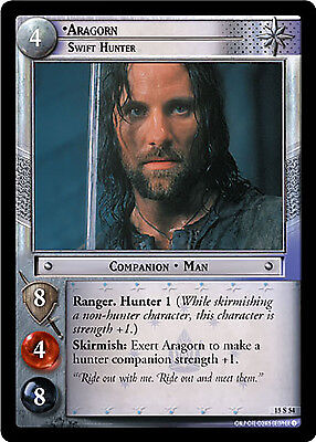 Lord of the Rings LOTR TCG - The Hunters - 15S54 Aragorn, Swift Hunter