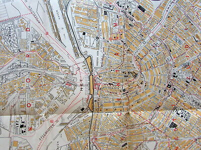 Amsterdam Holland CITO city plan c.1950's Vintage European map
