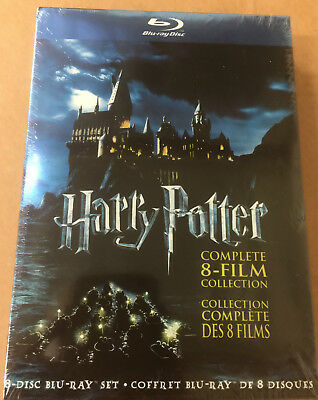 Harry Potter:Complete 8-Film Collection (Blu-ray Disc, 2011, 8-Disc Set) NEW