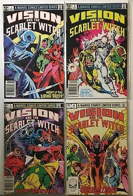 Vision And The Scarlet Witch #1-4 Limited Series Complete Set! Nuklo! 1982!
