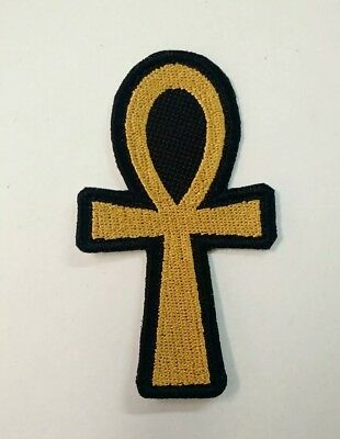 Egyptian Ankh Patch Iron/sew-on Ancient Egyptian Symbols Mysticism USA Seller