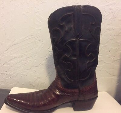 17a7b7aaf35 LUCCHESE MEN'S CHARLES Caiman Crocodile Belly Boots - 1635 S 54 - Size 10.5