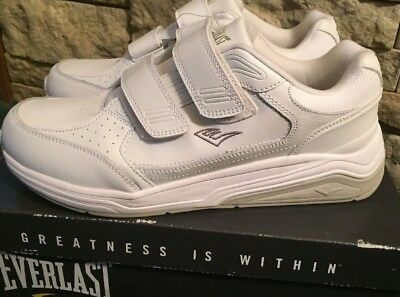 Everlast Sport Mens Athletic Two Strap Shoe Lincoln Wide Width Gray