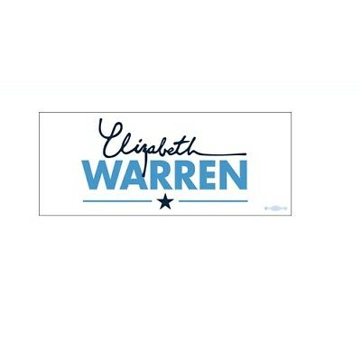 Elizabeth Warren 2020 For President White Bumper Sticker Decal