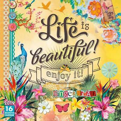 Life is Beautiful: Enjoy it! 2019 16-Month Square Wall Calendar by Sellers Publi