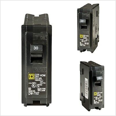 ELECTRIC CIRCUIT BREAKER Single-Pole 30 Amp D Homeline Compatible Short Protect