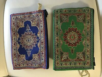 New Lot Of 2 Turkish Ottoman Kilim Design Coin Purse Cell Phone Bag
