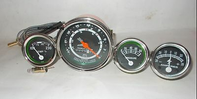 Ford Tractor Tachometer,Temp,Oil, Amp Gauge fit In 8N, 9N , 2N- chrome bezel