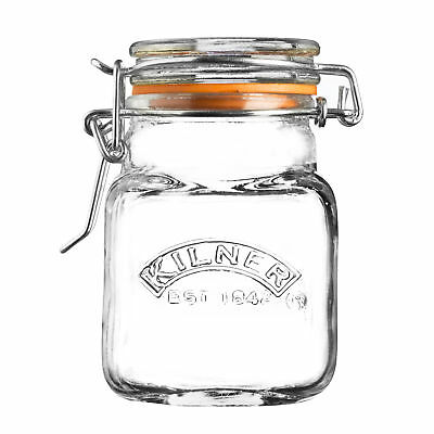 NEW Kilner Square Clip Top Jar 70ml