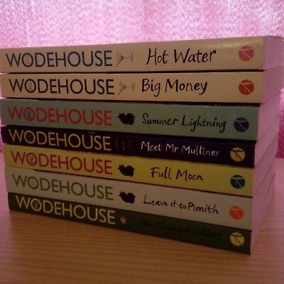 P G Wodehouse 7 books bundle Vgc