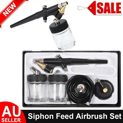 Airbrush Cleaning Pot Cleaner Paint Jar Air Brush Holder 304ml Art Volume R1V5