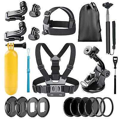 Neewer 22-in-1 Action Camera Accessory Kit with Chest Strap for GoPro Hero 5