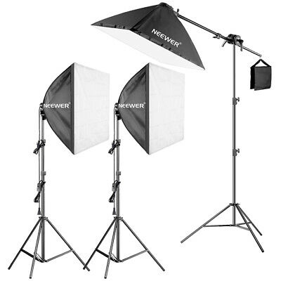 "Neewer 600W Pro Softbox Lighting Kit - 3 Packs 24x24"" Softbox with Light Bulb"