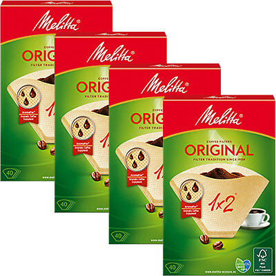 MELITTA Genuine Original Type 1x2 Aromapor Pour Over Coffee Filters x 160