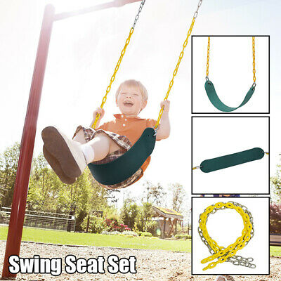 Heavy Duty Swing Seat Set Accessories Replacement with Coated Chain Kids Outdoor