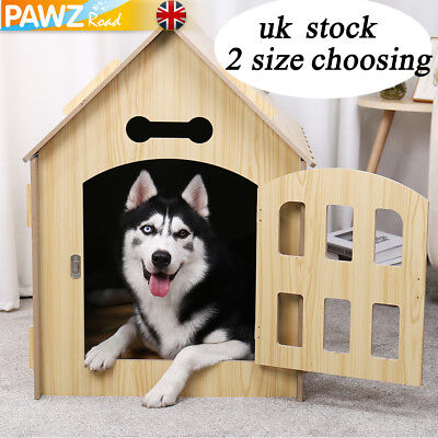 Dog House Kennel Pet Extra Large Timber Wooden Log Cabin Outdoor Puppy Cage