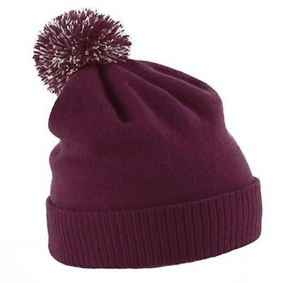 cfddf788f6a New BEECHFIELD Unisex Snowstar Duo Winter Knit Beanie Bobble Hat 9 Colours