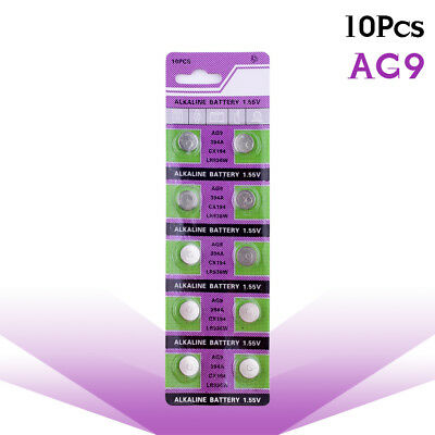 YCDC 10X Batteries Bouton AG9 524,280-17,394A,D380,D394 1.55V