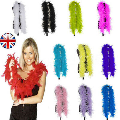 180cm Deluxe Feather Boa Hen Night Burlesque Showgirl Fancy Dress Accessory YA