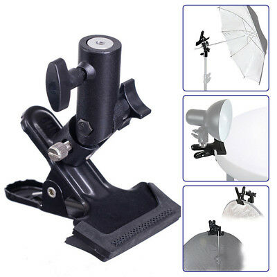 Photography Studio Reflector & Background Metal Clamp Clip Holder Screw Swivel