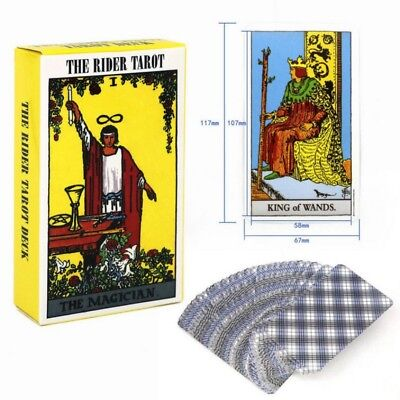 Rider Waite Tarot NEW Sealed 78 Cards Instructions Only Authorized Deck New
