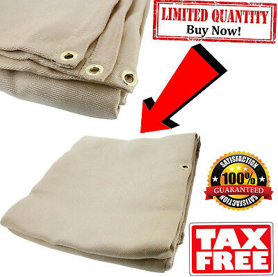 Heavy-Duty Fiberglass Fire Retardant Blanket, 4 X 6 Foot Small Welding Fireproof