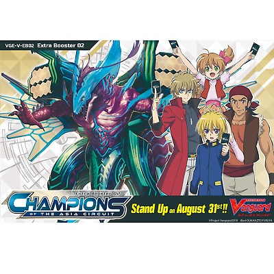 Cardfight Vanguard Champions of the Asia Circuit Booster Box of 12 Packs V-EB02
