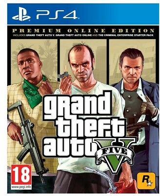 Gta 5 Premium Edition Ps4 Grand Theft Auto Videogioco Play Station 4 Italiano