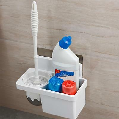 Bathroom Accessories Wall Mounted Toilet Brush Holder Rack with Cleaning Brush