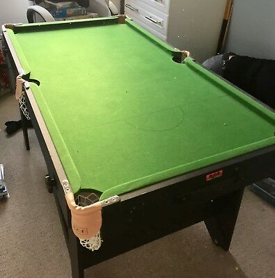 BCE 5 Ft X 2.5ft Folding Snooker/Pool Table With Full Accessories.